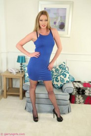 Free porn pics of Holly Kiss In Her Blue Dress 1 of 231 pics